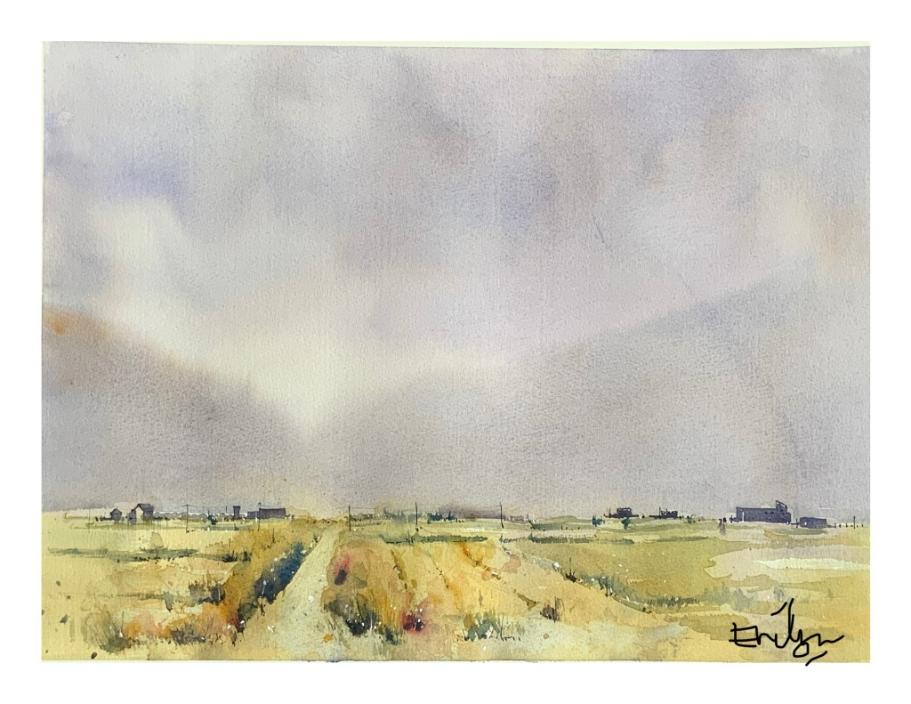 Impression of Itoshima - watercolour landscape by Evelyn Yee