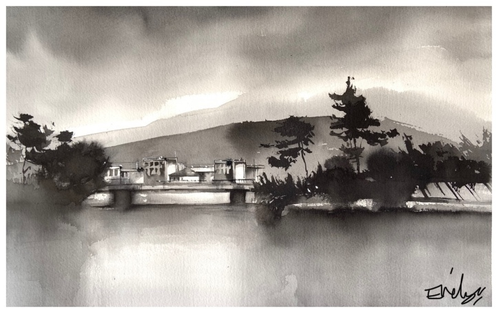 Ink Painting by Evelyn Yee