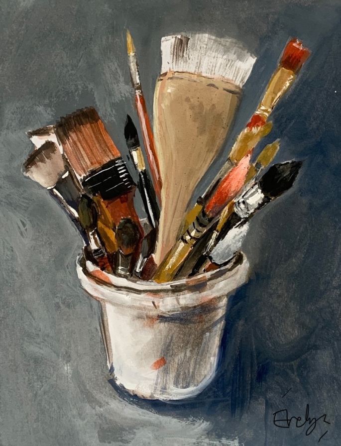 Brushes by Evelyn Yee