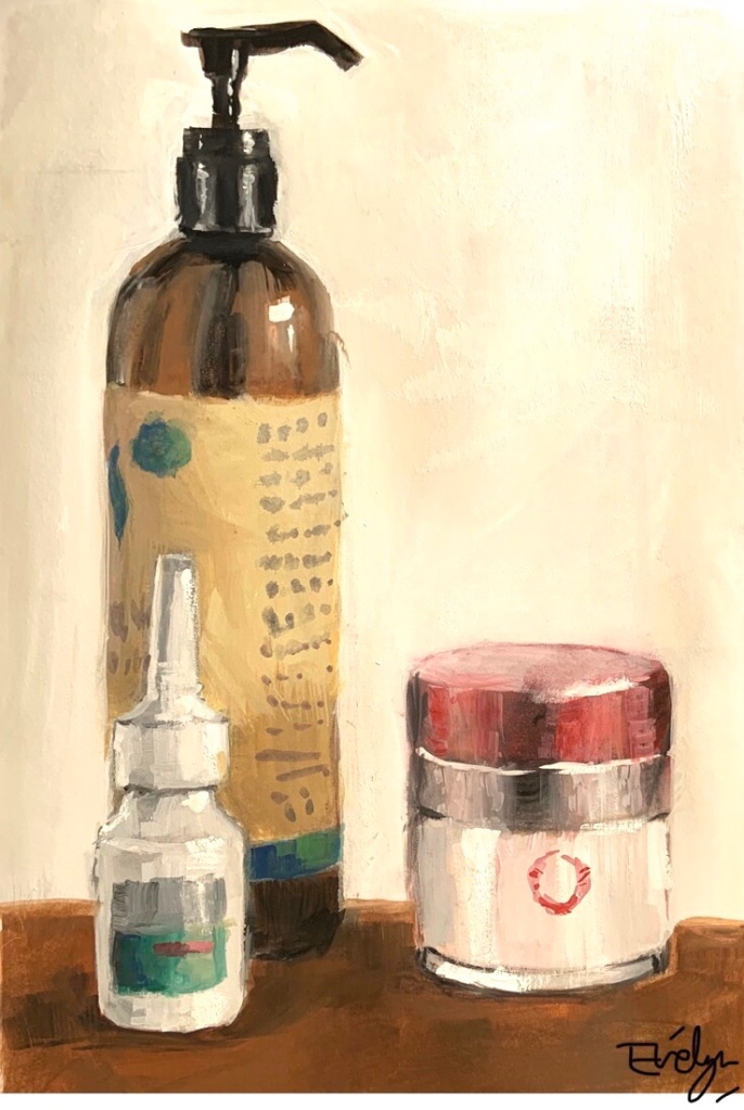 Lotion still life by Evelyn Yee
